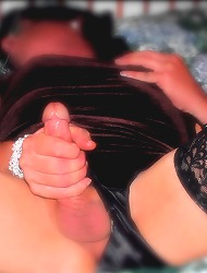Silk loving pantie boy playing..