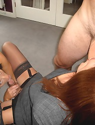 Naughty couple fuck and suck a..